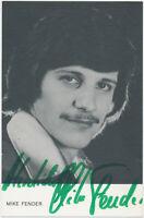Mike Fender † 2017 - hand signed Autograph Autogramm - Autogrammkarte