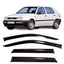 For VW Golf 3 III 5d 1991-1998 Side Window Visors Sun Rain Guard Vent Deflectors