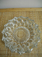 grand cendrier vintage verre déco rétro shabby glass ashtray 50s made in France