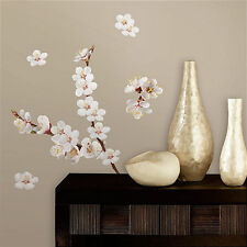 DOGWOOD FLOWERS wall stickers 26 decals wall decor branch white blooms