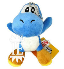 SUPER MARIO BROS. YOSHI BLU PELUCHE PORTACHIAVI plush keychain doll blue 3ds new