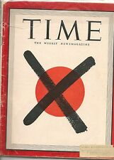 Time Magazine August 20, 1945  Japan Red X
