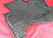 TOYOTA PRADO 150 SERIES RUBBER FLOOR MATS 2ND ROW 5 DOOR FROM AUG 09 NEW GENUINE