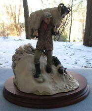 Border Fine Arts Figurine Winter Rescue All Creatures Great and Small Sheep Man