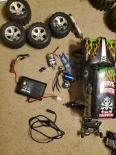 Used traxxas stampede .grave digger body rc car make a offer rpm