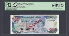Belize 100 Dollars 1-6-1980 P42s Specimen TDLR Uncirculated