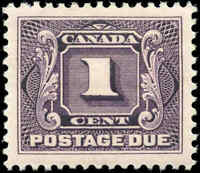 1906 Mint Canada VF Scott #J1 1c Postage Due Stamp Hinged