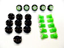 "15 Green 4 LEDs Light Bulbs 1/2"" Sockets License Plate Dashboard Marker Mopar"