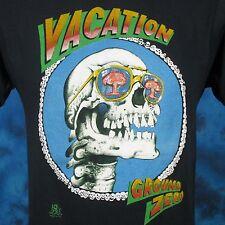 vtg 80s ATOMIC BOMB VACATION GROUND ZERO PAPER THIN T-Shirt S cartoon skeleton