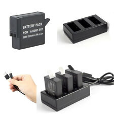 Rechargeable Battery Or 3-Channel Charger for GoPro (2018) HERO 5 HERO 6 / 7/ 8