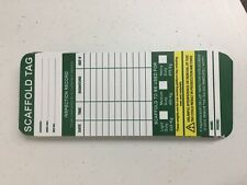Lot of 20 Sitemax Scafftag Scaffold Tag Inspection Vinyl 1800 007 557