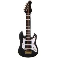 1/12 Dollhouse Miniature Musical Instrument Black E Guitar C7A5