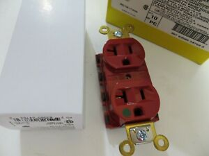 HUBBELL SNAPCONNECT SNAP8300RA 20A Duplex Modular Receptacle 125VAC 5-20R RED