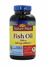 Nature Made Fish Oil 1200 mg 360 mg OMEGA 3, 200 Liquid Softgels