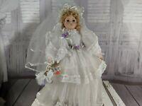 """caroline bride doll wedding seymour mann connoisseur collection 19"""" blonde"""