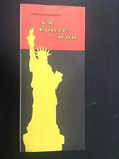 Rare ancien dépliant Brochure New York La porte d'or Statue de la liberté