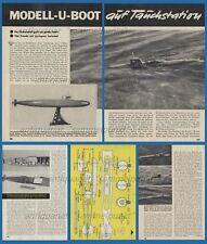 Bauplan Umbau Revell Modell zu einem tauchfähigen U-Boot  - Original von 1962