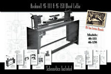 Rockwell 46 111 1411 Amp 46 150 Wood Lathe Service Owners Manual Parts List