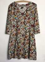 Izabel London Size 12 Owl Printed Tunic Dress