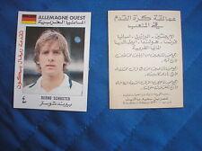SCHUSTER Deutschland MUNDIAL ESPANA 82 1982 WORLD CUP FIGURINA CARD ARAB ARABA