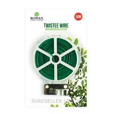 50m Garden Wire, Green Twist Tie Reel, PVC Coated Plant Support,Flexible