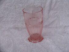 Coronation Pink Banded Tumbler Anchor Hocking