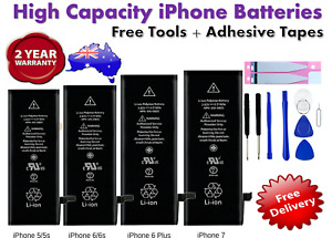 NEW High Capacity OEM Battery Replacement for iPhone 5 6 6S 7 Plus 8 + X