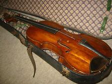 """Very old 4/4  Violin, nicely flamed 1part back """"Steiner """" needs repair"""