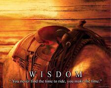 Horse Motivational Poster Art Western Decor Cowgirl Rodeo Saddle Wisdom MVP567