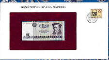 Banknotes of All Nations GDR East Germany 1975 5 Mark UNC P 27b 2 consecutive