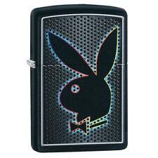 More details for playboy logo bunny black matte zippo windproof lighter