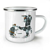 Animal Fight NEW Enamel Tea Mug 10 oz | Wellcoda