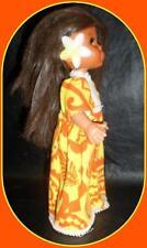 "Vintage Hawaii Doll 9"" Furga Italy Hong Kong Markings Groovy Hula Girl Doll"