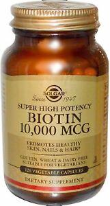 Biotin by Solgar, 120 capsule 10,000 mcg