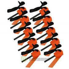 10PCS mini Emergency Flint Fire Starter Rod Lighter Magnesium camping tool kits