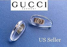 US Seller Silver Gucci Replacement Silicone Nose Pads Sunglass Eyewear Screw-In
