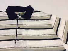 Men's IVANO VINCI STRIPED 100% COTTON GOLF POLO SHIRT Made in Italy Sz L