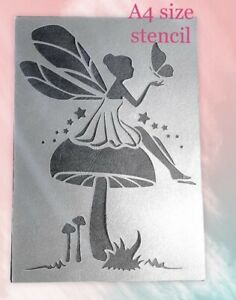 Fairy Stencil Wall Furniture Craft Decor Fairies Pixie Girls Craft Bedroom Dec
