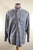 Orvis Mens Houndstooth Glen Plaid Thick Cotton Button Front Shirt Large
