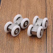2x Rouleaux de Porte Coulissants 4 Roues Rollers Aluminium Plastique Accessories