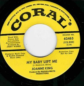 """NORTHERN SOUL - JOANNE KING - MY BABY LEFT ME - CORAL DEMO - """"HEAR"""""""