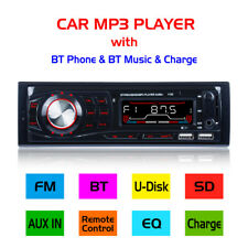 Car Stereo 12V FM In Dash Radio 1 DIN SD/USB AUX Bluetooth Handsfree Head Unit