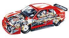 ALFA ROMEO 155 DTM RACE CAR CUTAWAY POSTER PRINT 20x36 HIGH RES