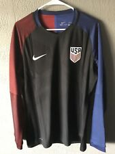 NIKE USA SOCCER JERSEY - US USMNT Rare Player Issue Match Long Sleeve Xl DTOM