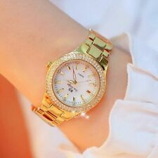 Ladies Watches Gold Women Crystal Diamond Stainless Steel Silver Clock Women Fas