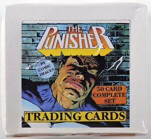S808. THE PUNISHER Trading Cards Set by Comic Images (1988) FACTORY SEALED; RARE