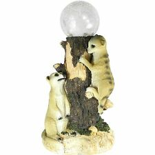 Solar Powered Meerkat Globe Colour Changing LED Light Outdoor Garden Statue New