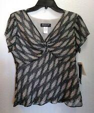 NWT - JONES NEW YORK Womans Short Sleeve Shirt 10P Petite (Retail price $79)