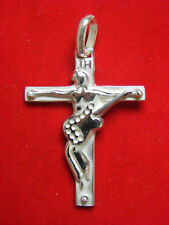 JOHNNY HALLYDAY croix en ARGENT massif  avec poinçon neuve jamais porter
