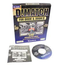 D! partido para PC (Doom & Doom II) - 500 Deathmatch niveles, en muy buena condición, CIB